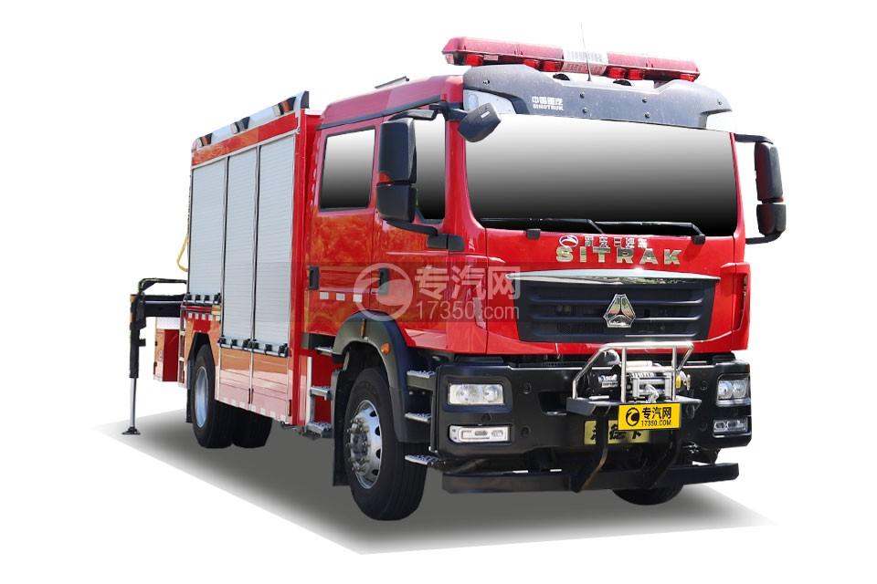 重汽汕德卡雙排國六搶險救援消防車