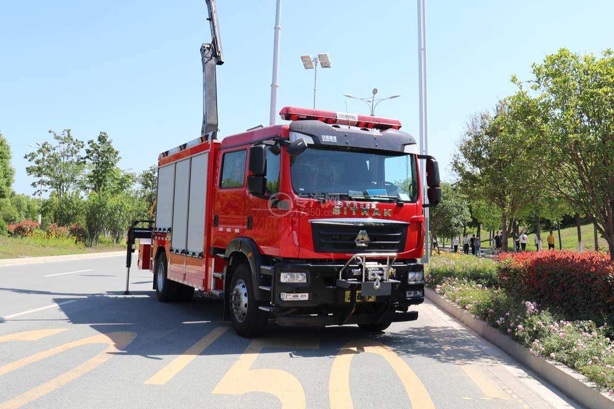 重汽汕德卡雙排國六搶險救援消防車圖片