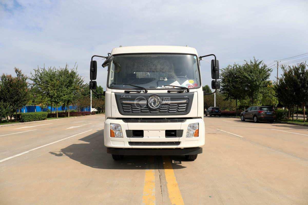 东风天锦VR单桥国六230马力压缩式垃圾车正前方图