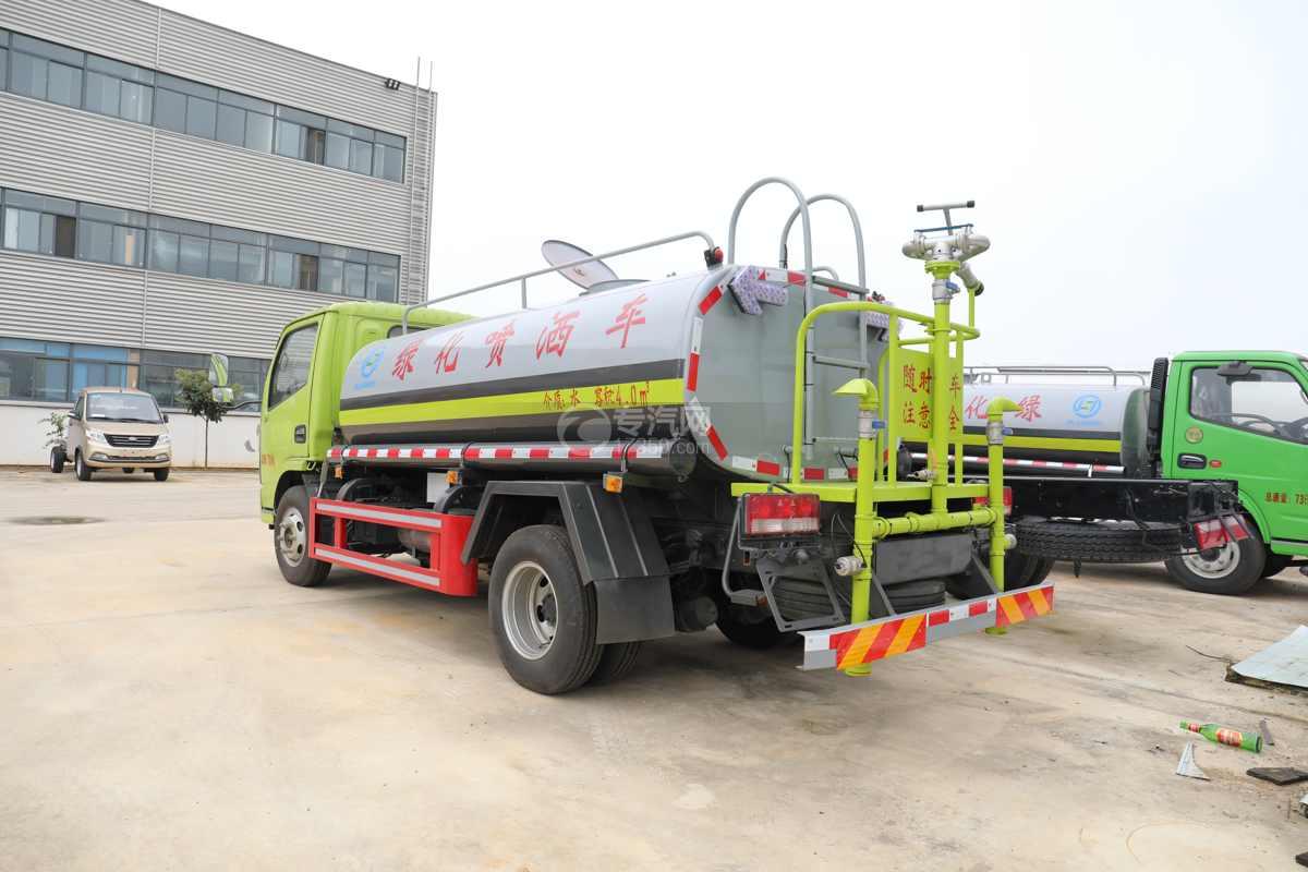 东风多利卡D6国六4方绿化喷洒车左后图