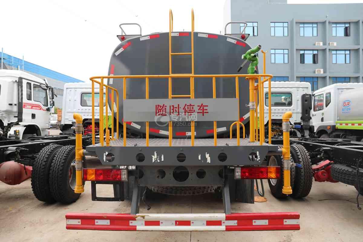 陕汽德龙L3000国六14.49方绿化喷洒车车尾图