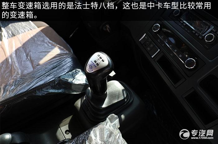 解放龙V2.0单桥国六拖吊联体清障车评测档位操作杆