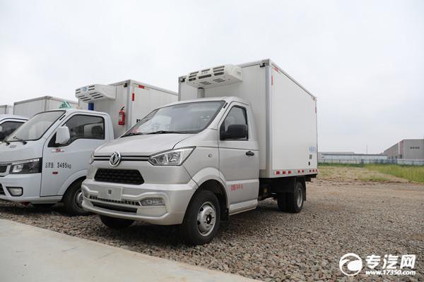 东风小霸王新款后双胎国六3米冷藏车