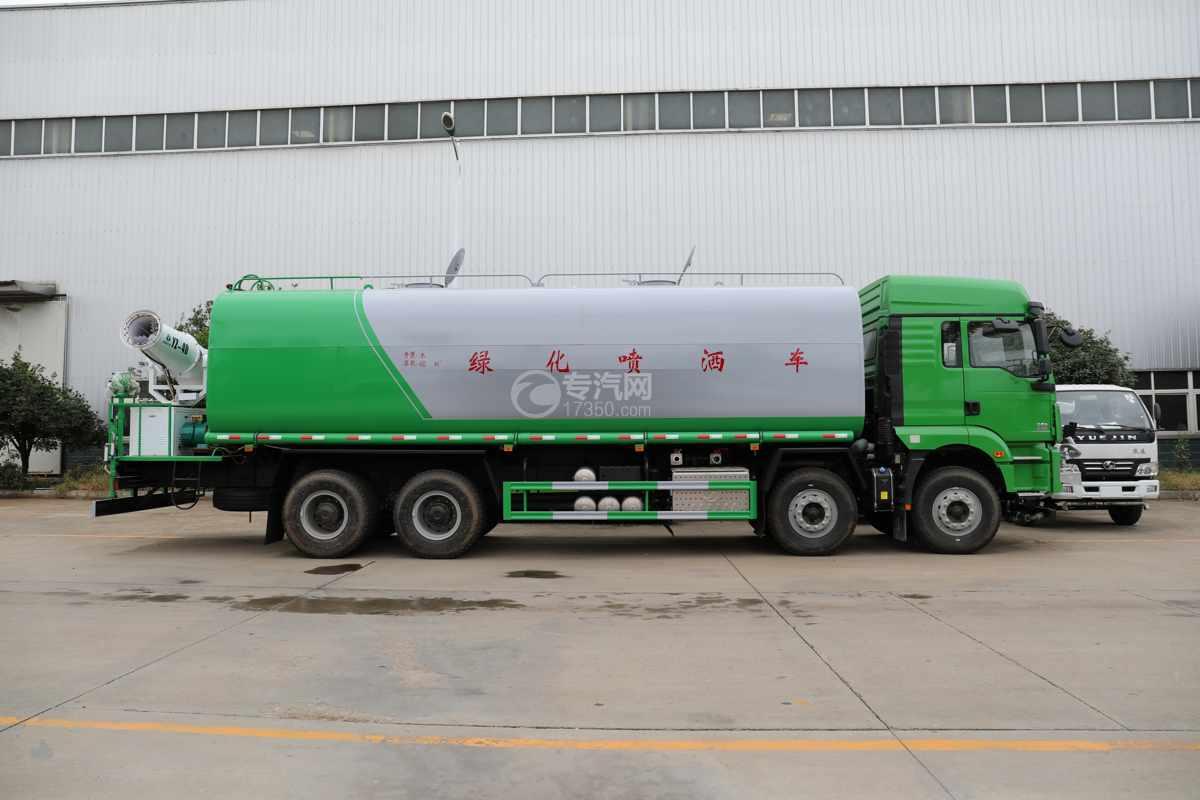 陕汽德龙新M3000前四后八国六40方绿化喷洒车带电子炮右侧图