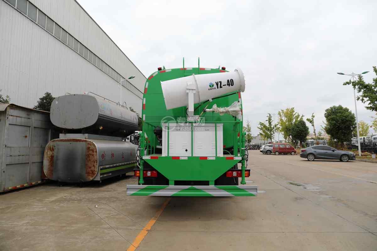 陕汽德龙新M3000前四后八国六40方绿化喷洒车带电子炮车尾图