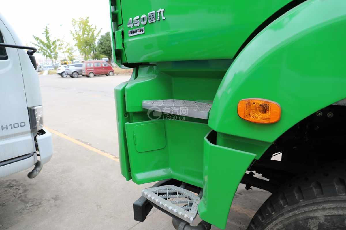 陕汽德龙新M3000前四后八国六40方绿化喷洒车带电子炮脚踏板