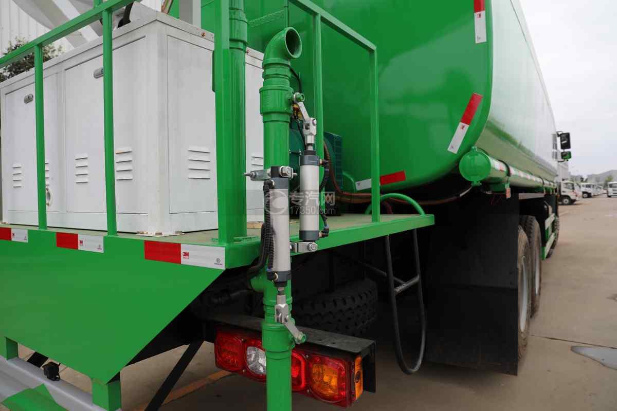 陕汽德龙新M3000前四后八国六40方绿化喷洒车带电子炮侧喷+气动推杆