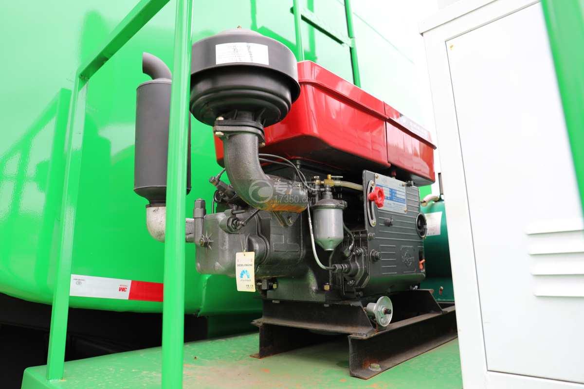 陕汽德龙新M3000前四后八国六40方绿化喷洒车带电子炮发电机