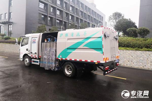 东风凯普特纯电动护栏清洗车