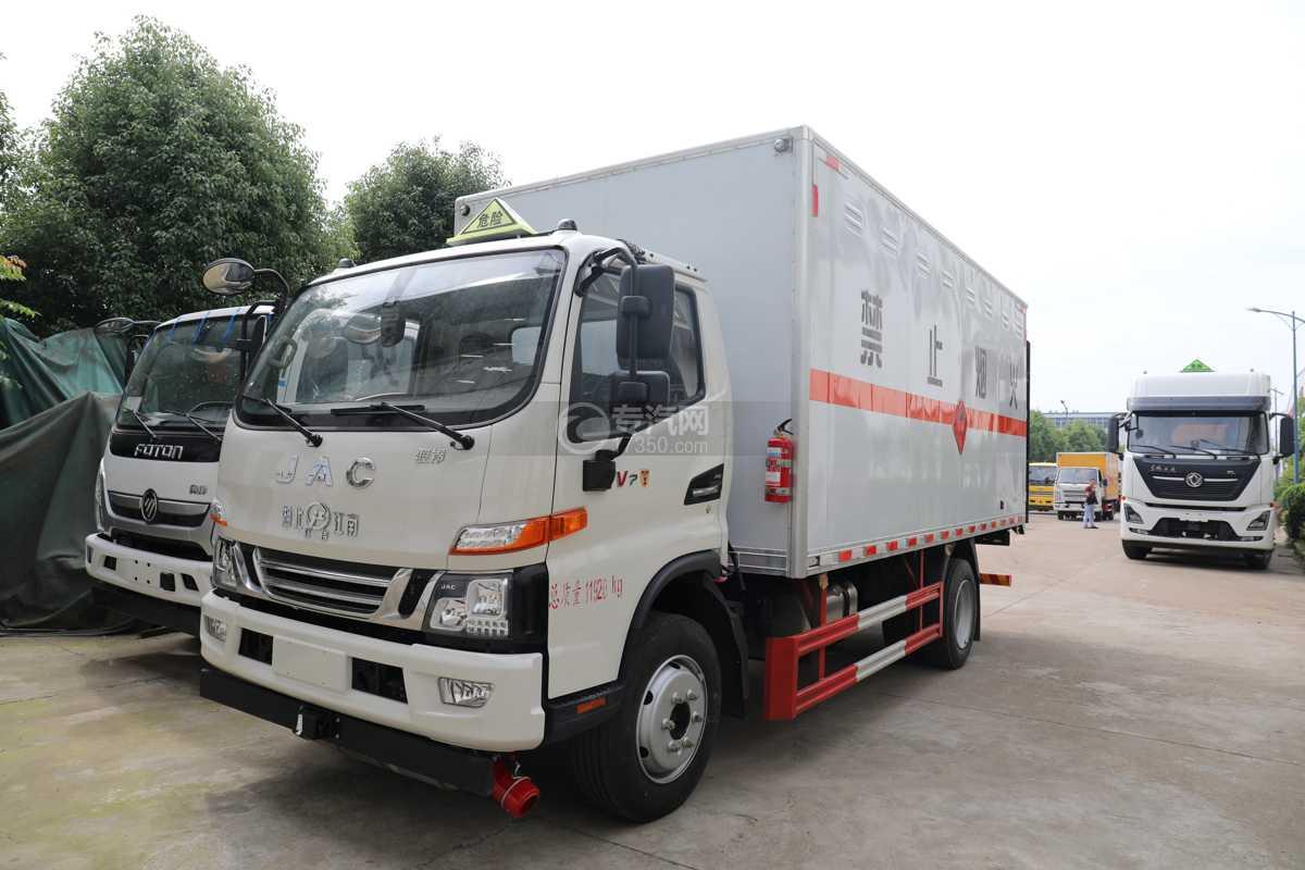 江淮駿鈴V7國六5.15米易燃氣體廂式運輸車
