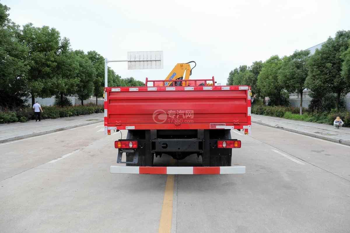湖北大运G6单桥国六4吨折臂随车吊正后图
