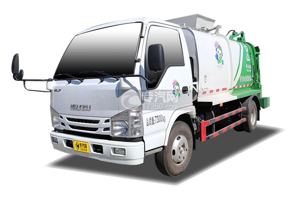 庆铃五十铃ELF国六餐厨式垃圾车