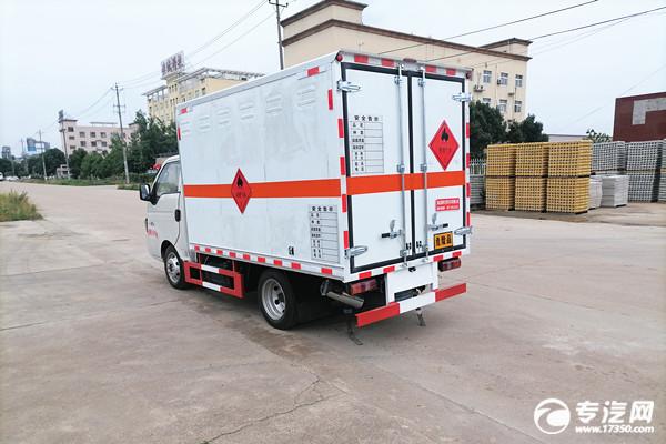 小型蓝牌江淮康铃X5国六危险品厢式运输车