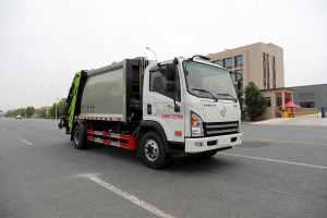 大運奧普力單排國六壓縮式垃圾車圖片