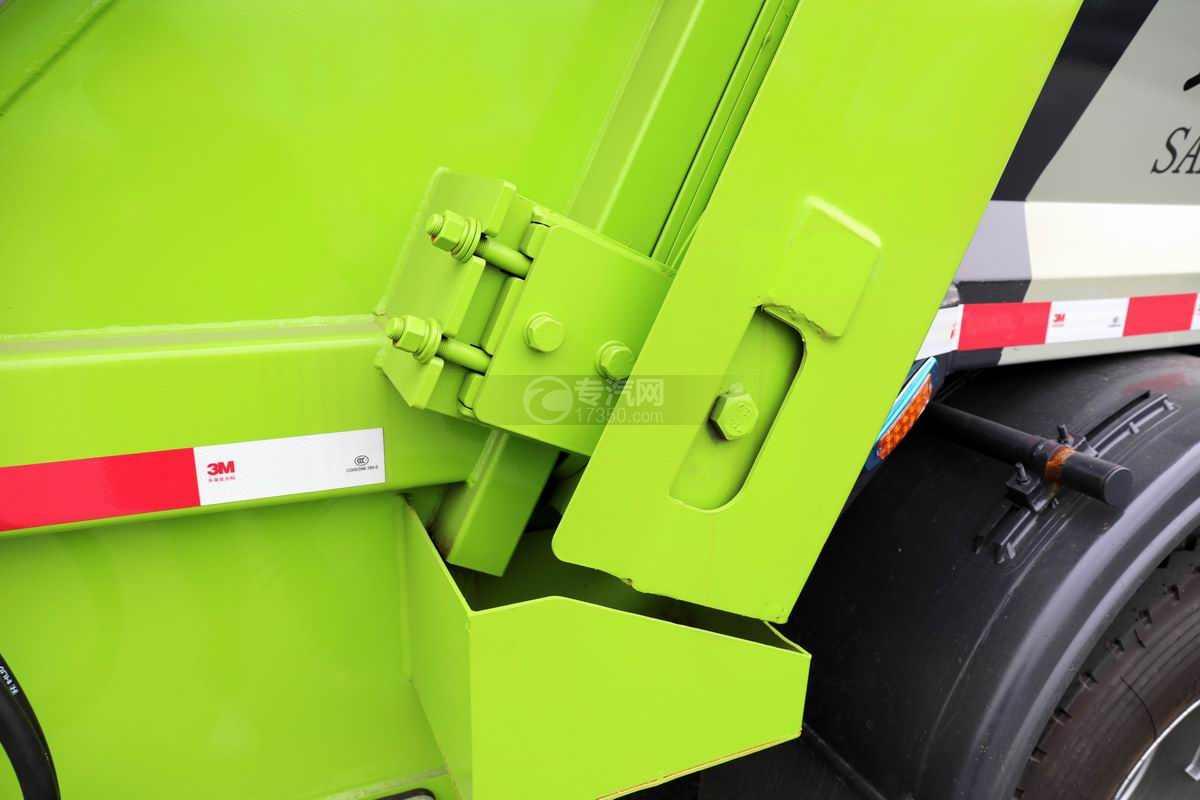 大运奥普力单排国六压缩式垃圾车上装细节