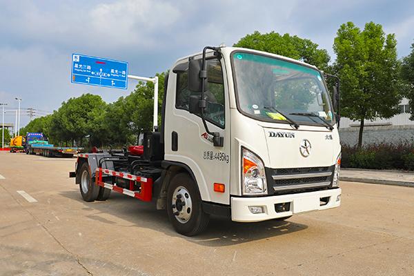 大运新奥普力126马力国六车厢可卸式垃圾车