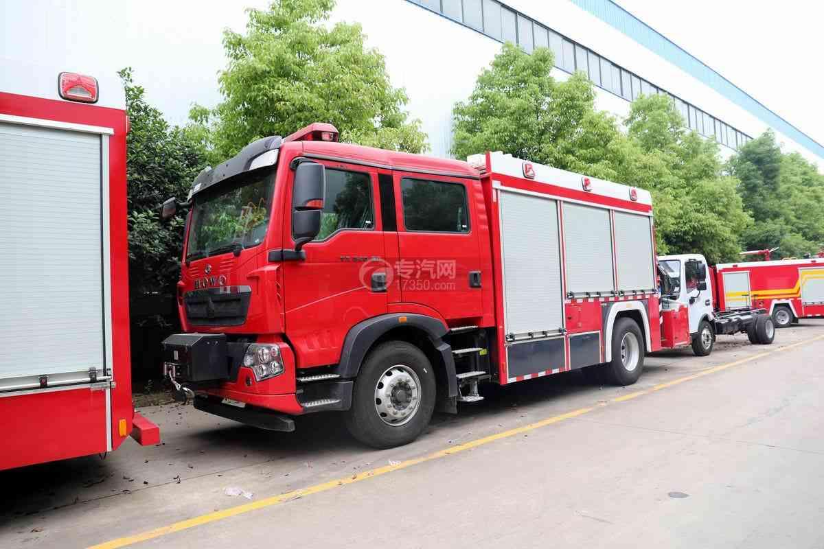 重汽豪沃TX后雙橋國六搶險救援消防車圖片