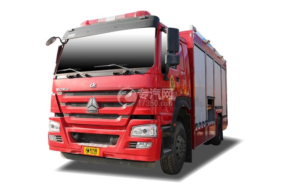 重汽豪沃單橋國六器材消防車