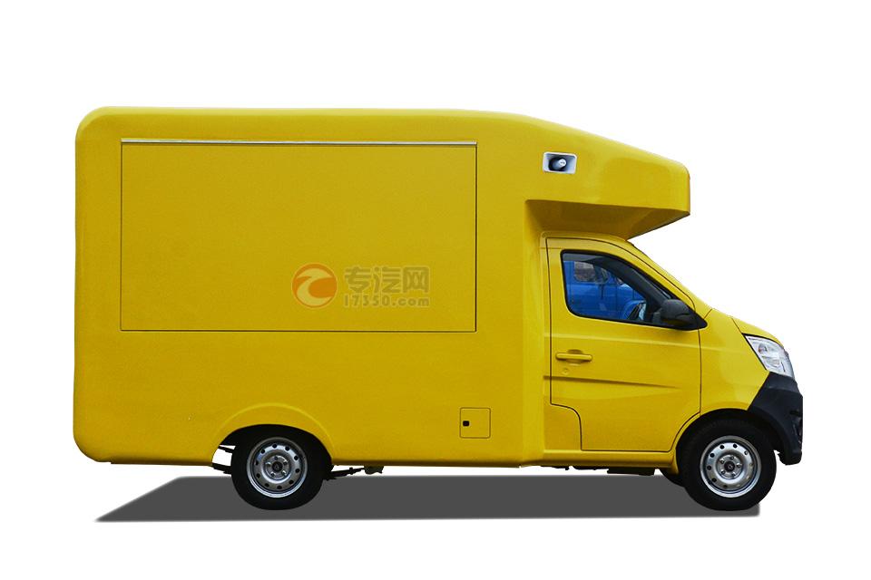 长安国五流动售货车右侧方位图