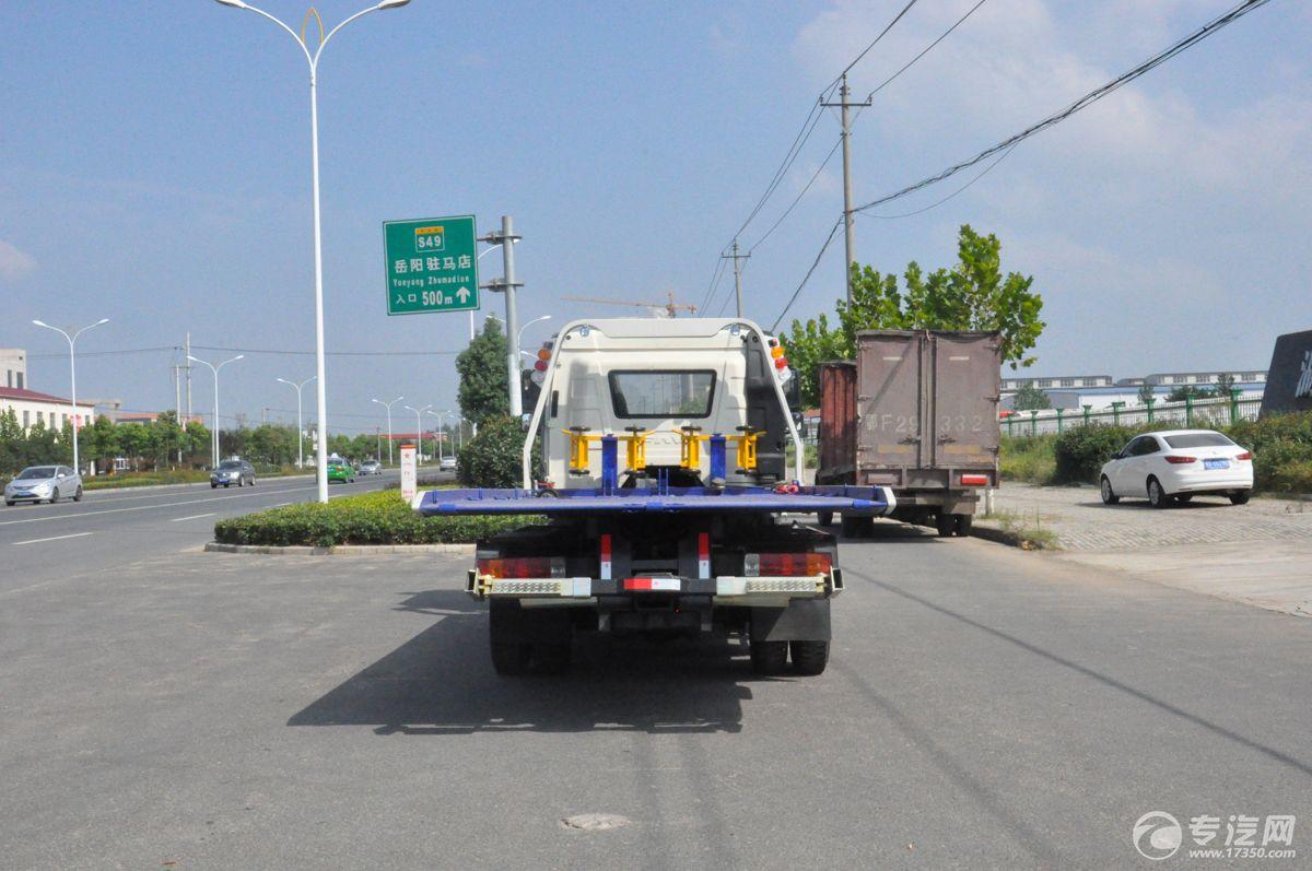 解放J6一拖二清障车后面图