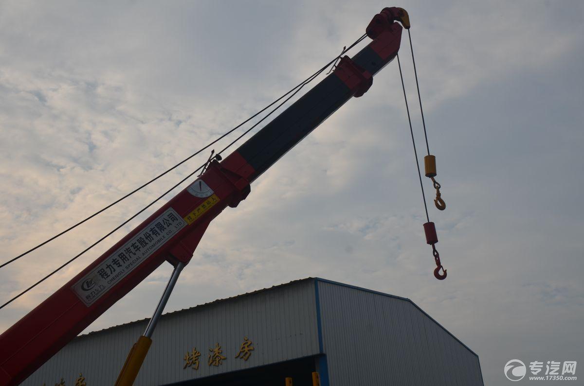 重汽豪沃拖吊分离360°全回转清障车吊钩伸出