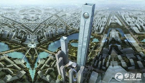 """沈阳""""东北第一高楼"""" 浇筑超大混凝土底板"""