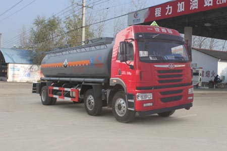 解放8.4方腐蚀性物品罐式运输车