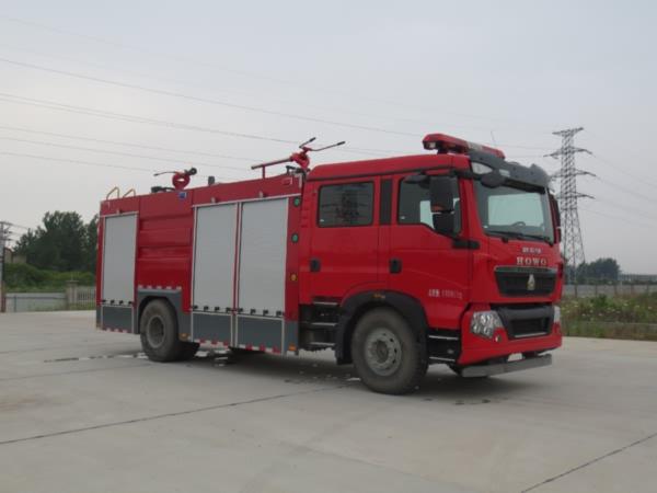 重汽7方干粉水联用消防车