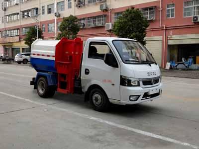 东风俊风挂桶式垃圾车
